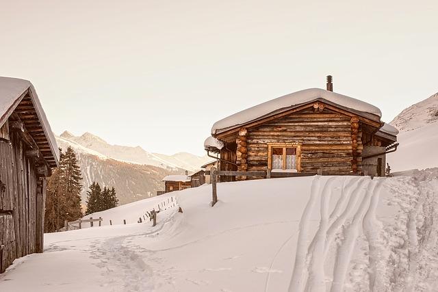 chata górska z bali